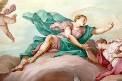 Ein Fresko an der Decke des achtzehnten Jahrhunderts venetischen Villa