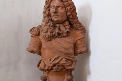 Terrakotta-Büste am Eingang des achtzehnten Jahrhunderts venetische Villa