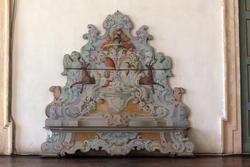 venetischen villen in Verona, eine dekorierte Sitzbank
