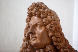 Gesichts in Terrakotta in der venetische Villa Perez Pompei