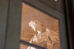 Statue äußere das Esszimmer des venetische Villa in Verona