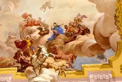 Achtzehnten Jahrhunderts Malerei in der venetische Villa an der Decke