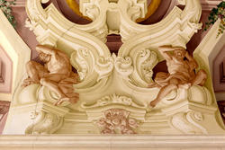 Malerei and der Decke der venetisch Villa Perez