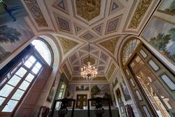 Verona venetische villa Perez Pompei Sagramoso, der Decke des Esszimmer