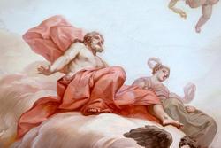 Achtzehnten Jahrhunderts Gemälde an der Wand in venetische Villa in Verona