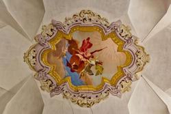 Verzierten Decke der achtzehnten Jahrunder Villa in Verona