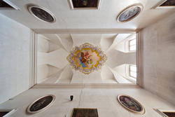 Achtzehnten Jahrhundert Dekoration von der Decke in der venetische Villa
