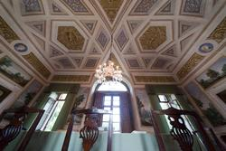da Esszimmer der venetische Villa des achtzehnten Jahrhunderts in Verona