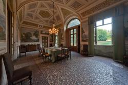 venetian villas in Verona, dining room in villa Pompei