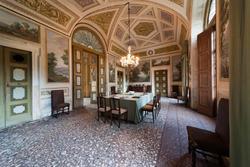 Dinig room in venetian Villa Perez  Pompei Sagramoso