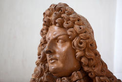 Face in terracotta of venetian villa Perez Pompei