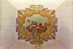 Decorated ceiling of the eighteenth-century villa in veneto