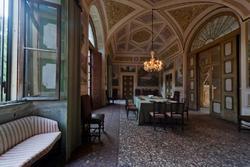 Lunch in the eighteenth century, venetian villa in Verona