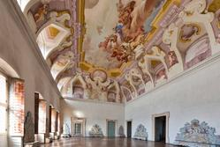 Frescoed hall in venetian villa in Verona