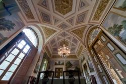 Verona , venetian villa Perez Pompei Sagramoso, ceiling of the dining room