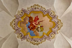 Decorated ceiling of eighteenth-century villa in Verona