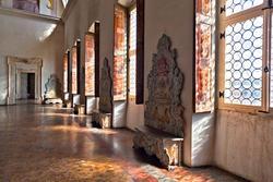 Detail of the hall in venetian villa