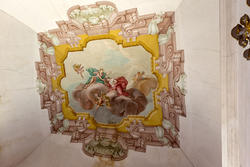 decoration of eighteenth-century on the ceiling of venetian villa