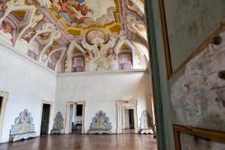 entrance in the hall of the ventian villa in Verona
