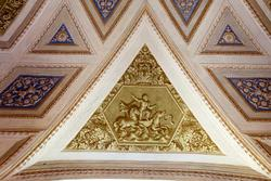 decoration on the wall of the venetian villa in verona