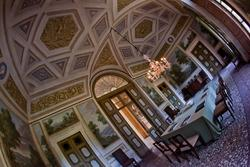 Dining room in the eighteenth-century venetian villa in Verona