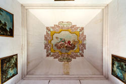 eighteenth-century frescoed ceiling in venetian villa