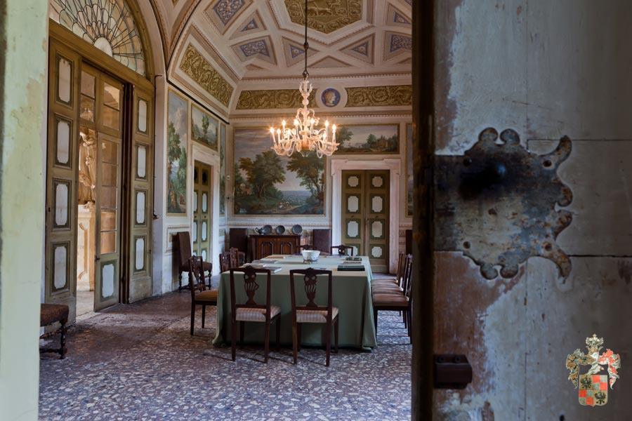 Villa veneta a verona - Pittura sala da pranzo ...