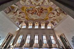 Ampio salone della settecentesca villa Sagramoso