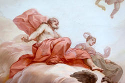 Pittura settecentesca su parete in villa veneta veronese