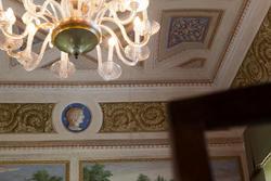 Particolari della sala da pranzo della villa veronese in Veneto