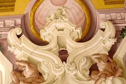 Decorazione sul soffitto in villa veneta Perez Pompei Sagramoso