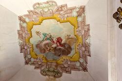 decorazione settecentesca del soffitto nella villa veneta
